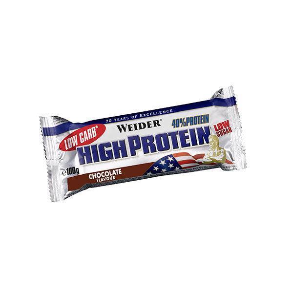 Weider 40% High Protein Bar 100g cokolada - Fitshop.hr