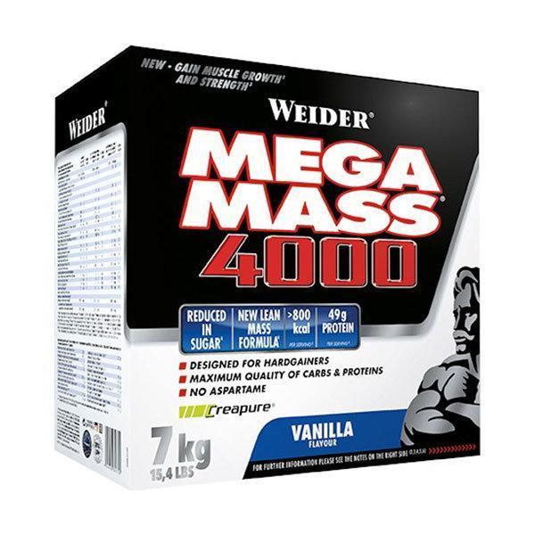 Weider Mega Mass 4000 7kg vanilija - Fitshop.hr